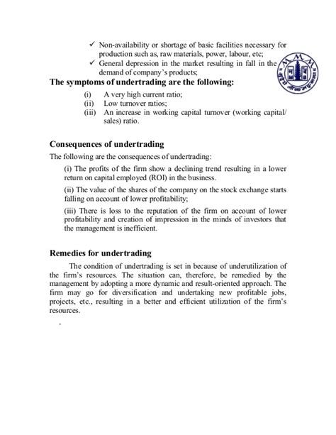 Bank Of Maharashtra Letter Of Credit Working Capital Management Of Maharashtra Bank