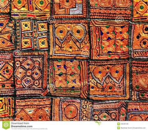 Indian Patchwork - indian patchwork carpet stock photo image 24545140