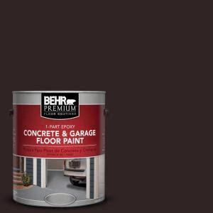 behr premium 1 gal sc 104 cordovan brown 1 part epoxy concrete and garage floor paint 93001
