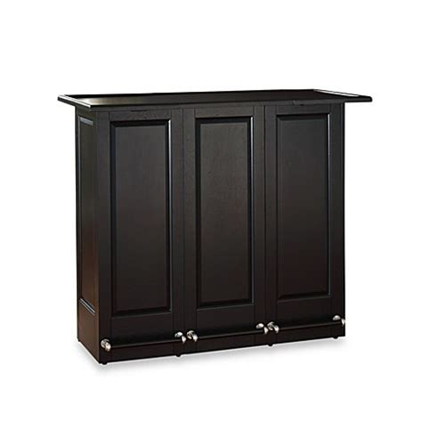 Folding Home Bar Cabinet Buy Crosley Folding Bar Cabinet From Bed Bath Beyond