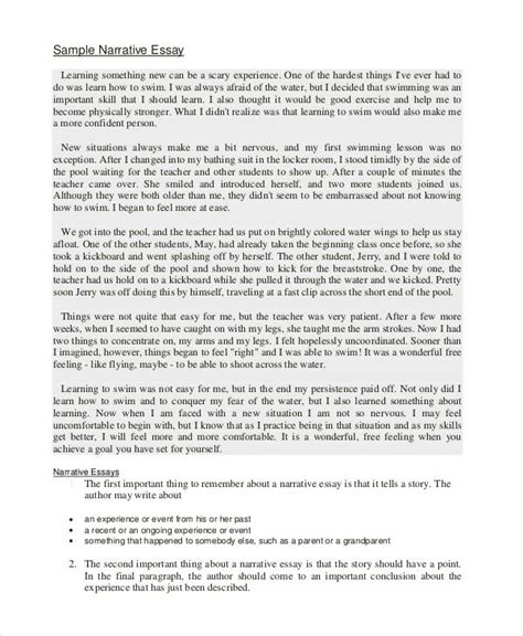 Exle Narrative Essays by Narrative Exle Essay No Longer Sle Personal Narrative Essays College Essay