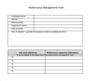 performance management review template sle performance review template 7 documents in pdf