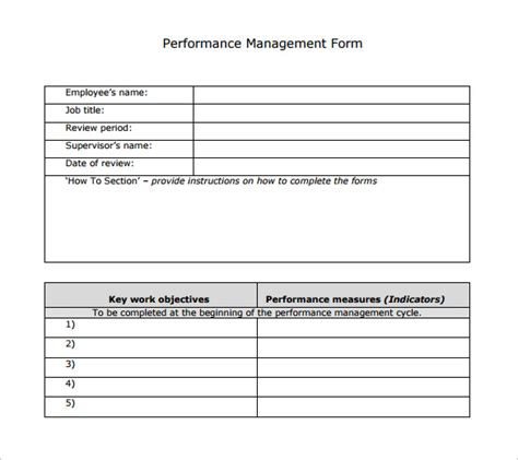 Sle Performance Review Template 7 Documents In Pdf Word Executive Performance Review Template