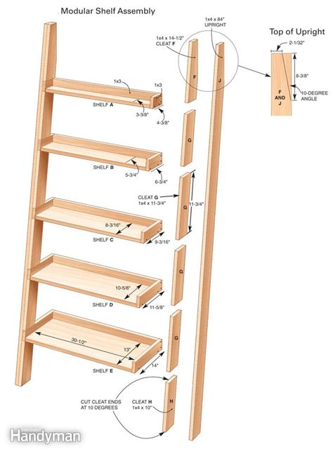 pdf diy ladder shelf design plans kreg chest