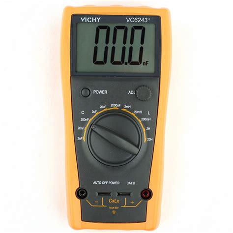 how to discharge capacitor with multimeter vichy vc6243 lcd digital meter capacitance inductance digital 20h multimeter ebay