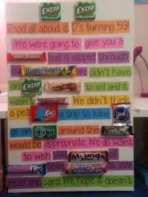 candy birthday card present ideas pinterest