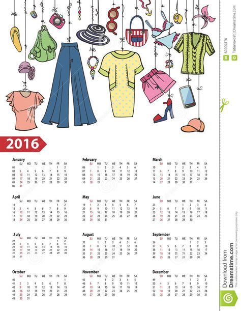 new year clothes 2016 singapore calendar 2016 year summer fashion colored stock vector