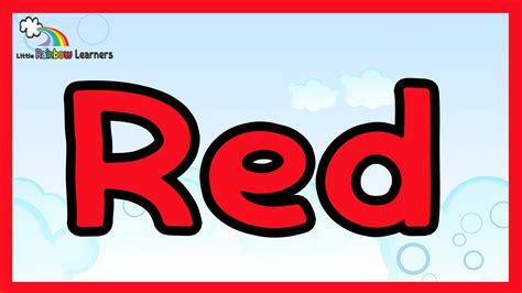 colour red youtube learn the color red the color red for kids youtube