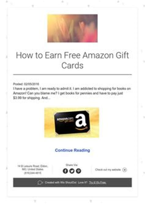 Earn A Amazon Gift Card - how to get free amazon gift cards every month amazon gifts