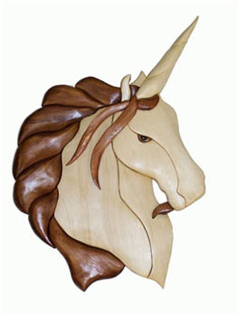 unicorn wood pattern female unicorn intarsia pattern