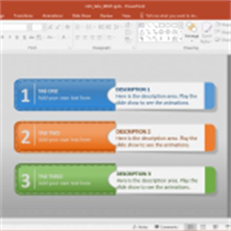 Infographics Powerpoint Tabs Template