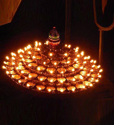 Diwali Light Decoration Home Tu Casa Electric Revolving Diya Tray Big By Tu Casa Online