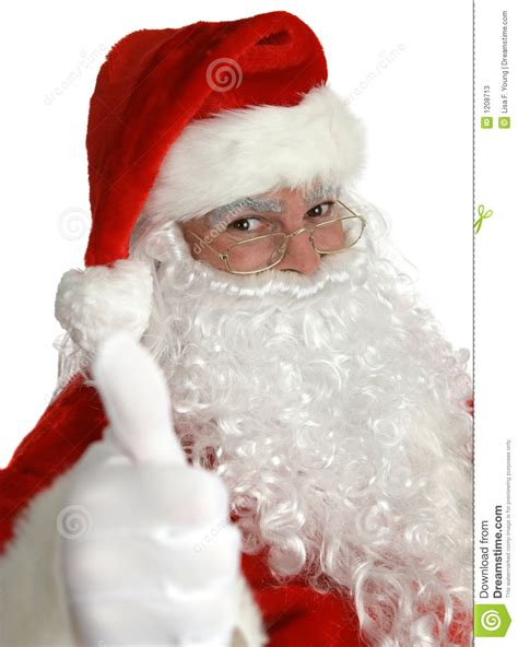 santa claus thumbs up stock image image of costume