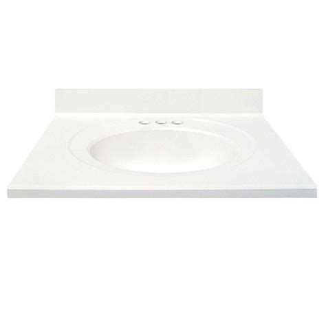 Cultured Marble Vanity Tops Colors by Us Marble 31 In Cultured Marble Vanity Top In Solid White