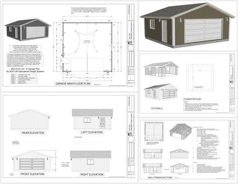 charming free 24x24 garage plans g518 24 x 24 x 8 garage plans spec sheet sds plans