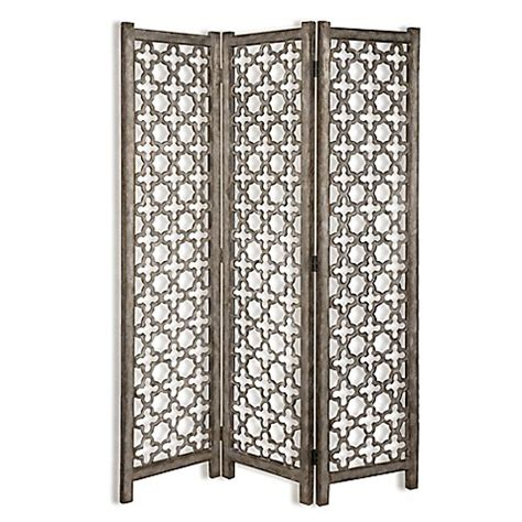 Quatrefoil Room Divider Uttermost Quatrefoil 3 Panel Burnished Room Divider Floor Screen Bed Bath Beyond