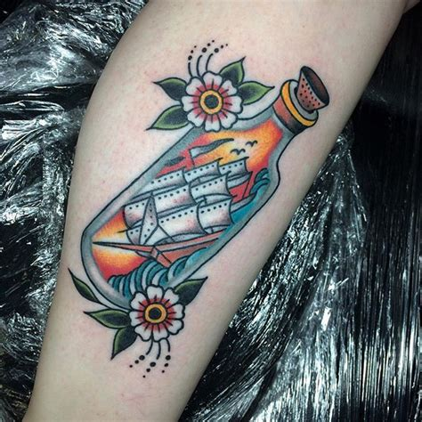 new school bottle tattoo 717 best in a bottle tattoos images on pinterest tattoo