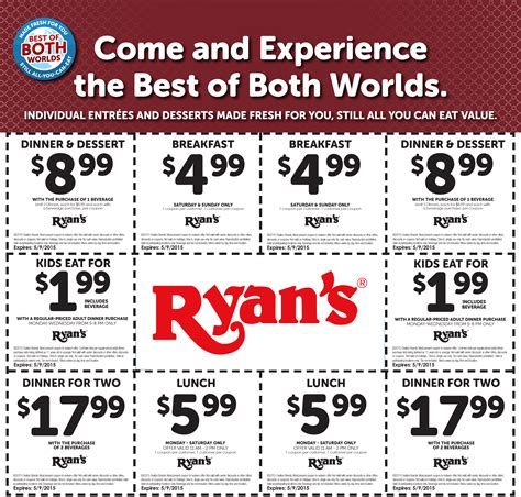 mountain buffet coupons ryans coupons 2 5 breakfast 6 lunch more