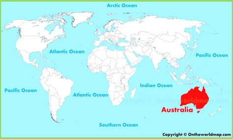 australia in map australia world map location www pixshark images