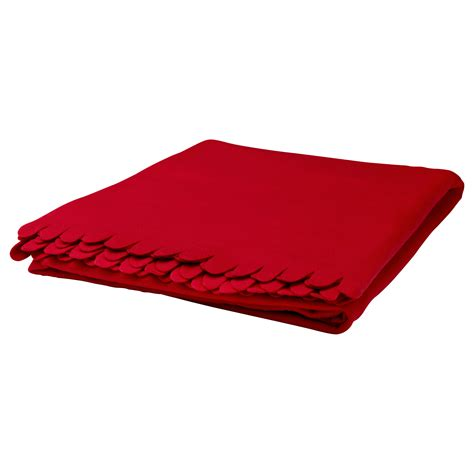 Ikea Blanket | polarvide throw red 130x170 cm ikea