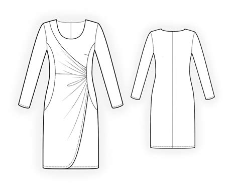 drawing pattern for sewing pics for gt draped dress sewing pattern