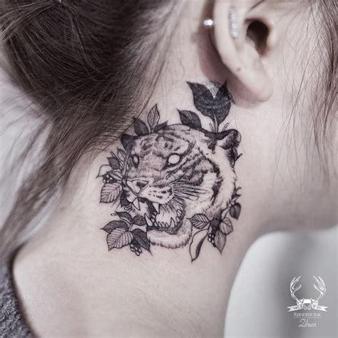 tattoo neck tiger 84 best tiger tattoo ideas images on pinterest design