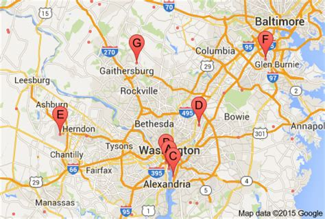 washington dc map showing airports washington dc area airports map washington dc map