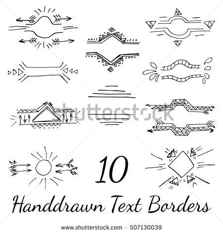 Business Letter Borders vector text borders your business ethnic stock vector