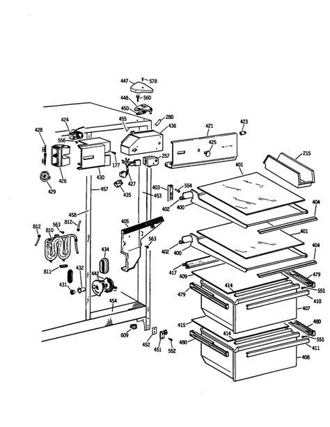 refrigerator parts ge side by side refrigerator parts diagram
