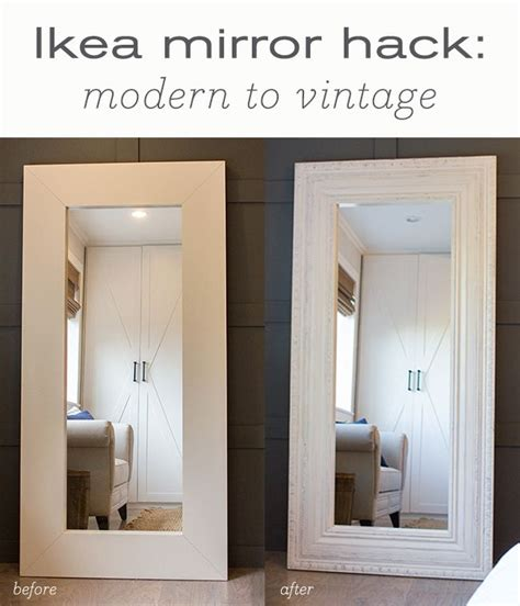 ikea mirror hack best diy floor mirror tutorials i may have to settle for
