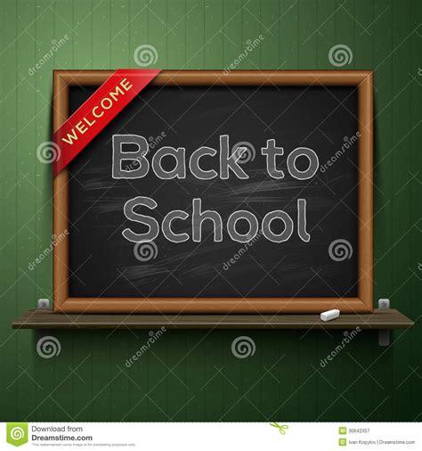 On The Shelf Back To School by Back To School Blackboard On The Shelf Stock Image