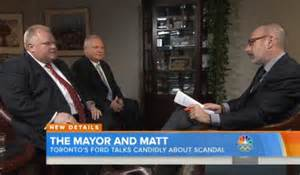 rob ford toronto mayor on matt lauers today show no rob ford says toronto is lucky terrorists didn t strike