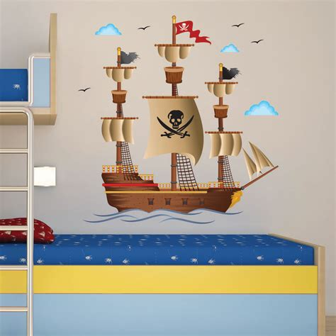 pirate ship wall stickers pirate ship wall decals rosenberryrooms