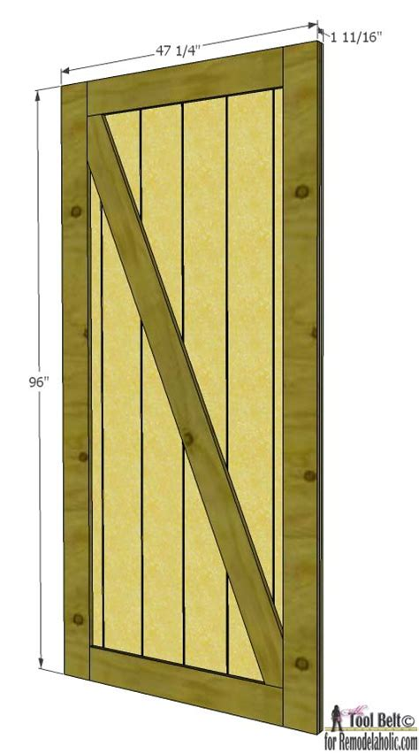 Diy Sliding Barn Door Plans Remodelaholic Simple Diy Barn Door Tutorial