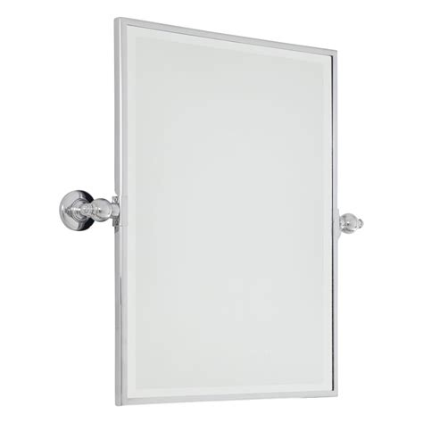 pivoting bathroom mirror minka lavery 1440 77 chrome standard rectangle pivoting