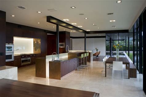kitchen area design a peninsula house on lake austin texas