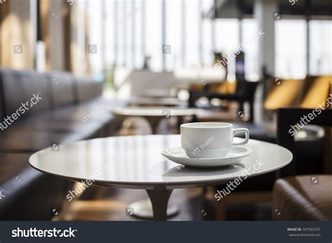 coffee shop cafe interior with table stock photo 187563731