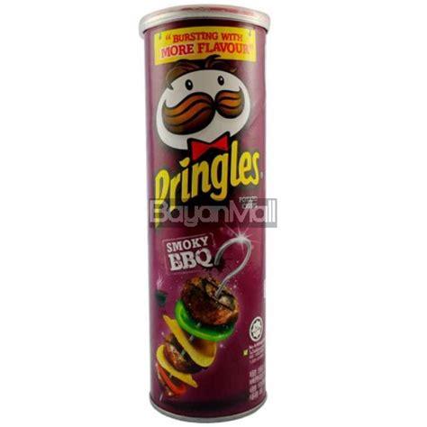 pringles potato crisps smoky bbq flavor 110g
