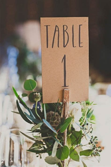 inspiring wedding table number ideas  love