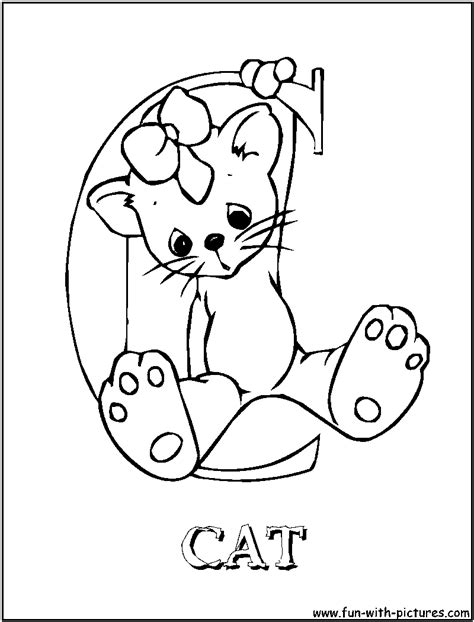 Free Coloring Pages Of Sniper Elete3 C Is For Cat Coloring Page
