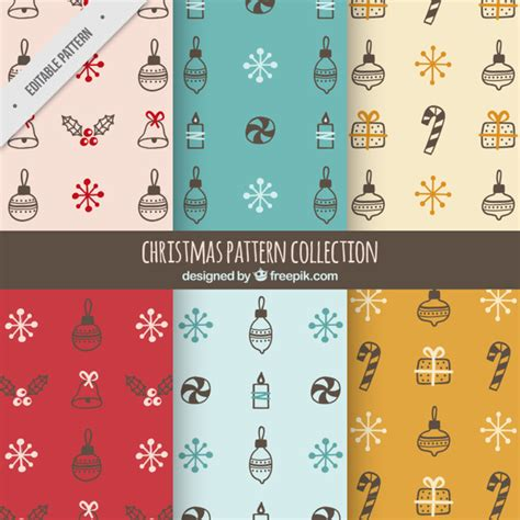 svg pattern object great patterns with hand drawn christmas objects vector