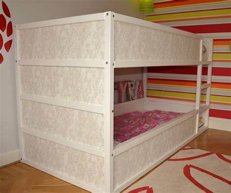 bunk bed hacks ikea hackers girly kura bunk bed kid spaces pinterest