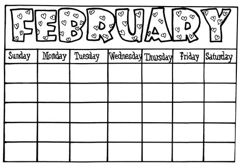 printable blank march calendar kids editable calendar
