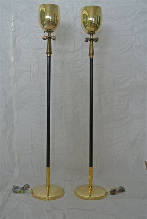 stiffel swing arm floor l stiffel pair of brass torchere floor ls with key