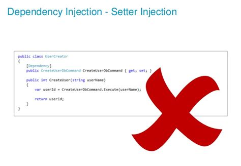 laravel dependency injection setter application architecture