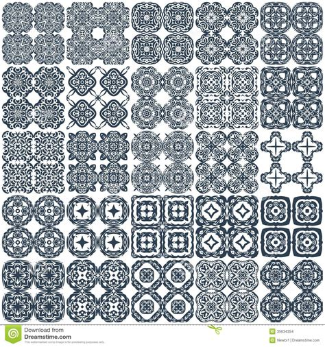 arabic seamless pattern vector set of 25 geometrical seamless patterns vector stock