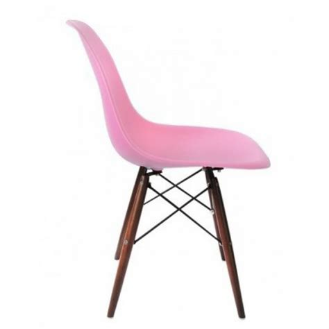 Pink Lucite Chair by Eames Style Dsw Molded Pink Plastic Dining Shell Chair
