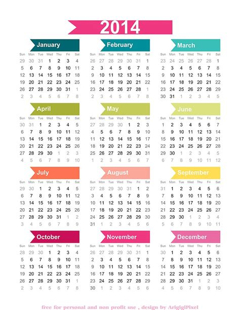 calendar 2014 printable one page canadian autos post