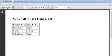java tutorial with netbeans pdf xml to pdf in java code