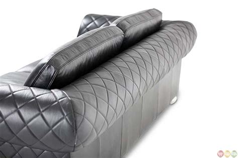 michael amini lugano modern quilted leather